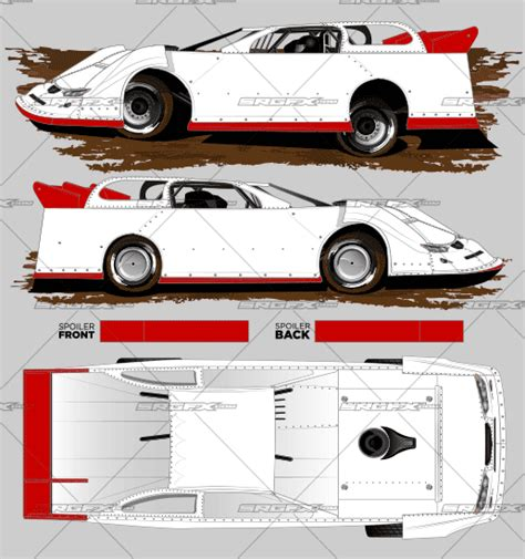 dirt late model graphics template 2016 dynamic dirt late model template srgfx
