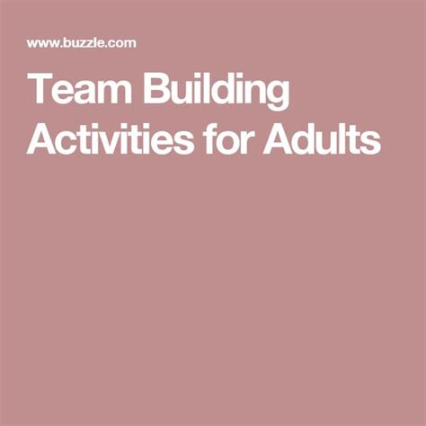 Team Building Worksheets For Adults by Building Activities And Team Building Activities On