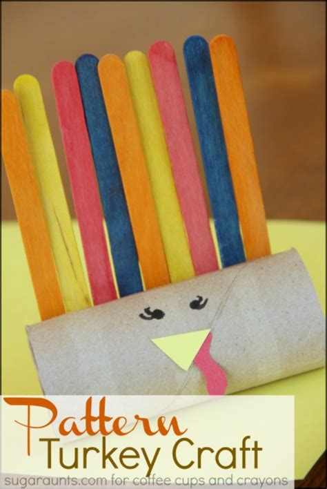 kindergarten pattern craft paper roll pattern turkey craft coffee cups and crayons