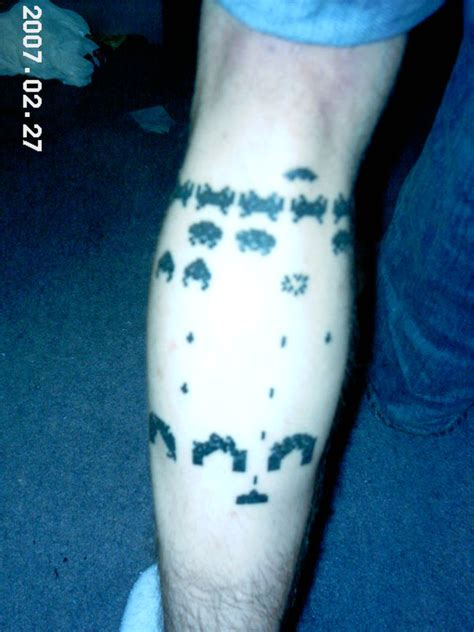 space invaders tattoo by dilusion88 on deviantart
