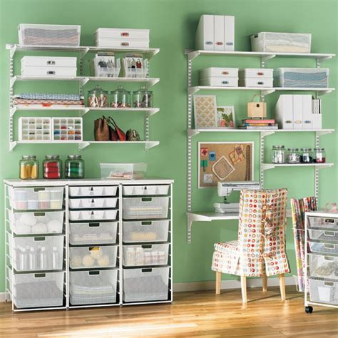 Container Store Elfa Desk by White Elfa Mesh Craft Room The Container Store
