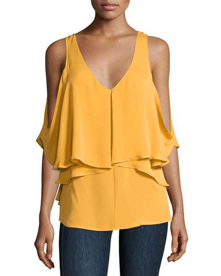 Blouse Ziva kobi halperin ziva cold shoulder silk blouse