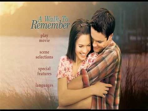 A To Remember a walk to remember dvd menu