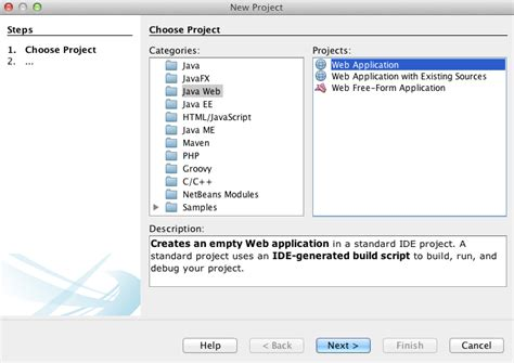 design web application in netbeans html5 netbeans 7 3 how to create a java web app