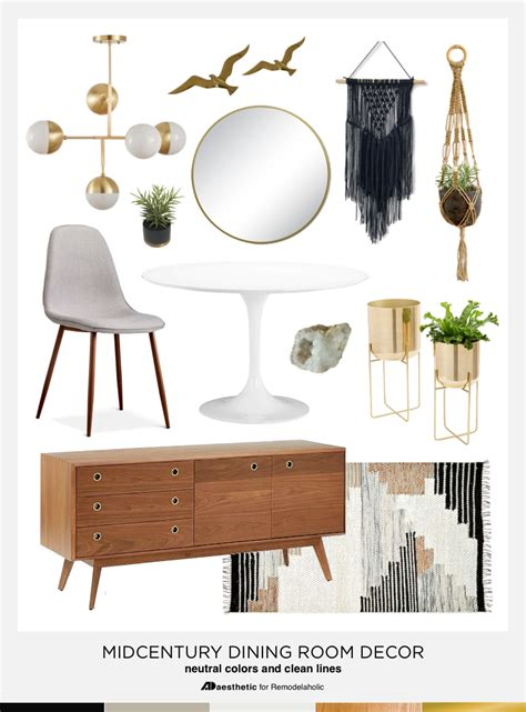 mid century modern home decor dining in style neutral mid century modern dining room