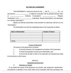 selling a business contract template free 12 buy sell agreement templates free sle exle