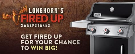 Longhorn Steakhouse Sweepstakes - longhorn steakhouse fired up sweepstakes