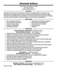 Sle Hr Coordinator Resume by Administrative Coordinator Resume Sales Coordinator