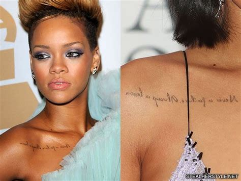 rihanna side tattoo rihanna s tattoos meanings style