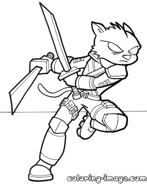 Ninja Cat Coloring Page | ninja cat coloring pages