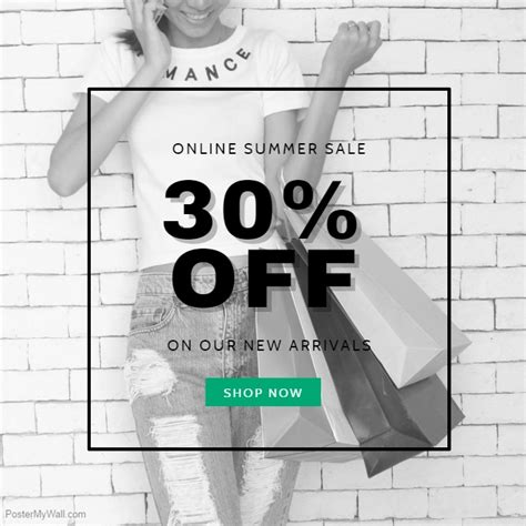 Black White Summer Sale Template Postermywall Apparel Flyer Templates