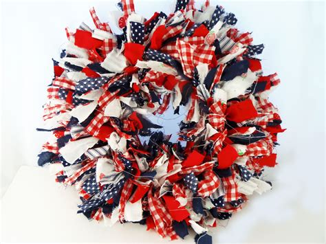 Rag Wreath - how to make a rag wreath