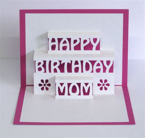 birthday 3d card template birthday card 3d pop up happy birthday card