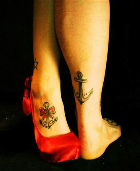 his and her tattoo ideas his and matching anchor tattoos unique wedding ideas