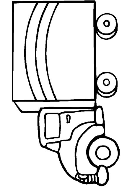 coloring page delivery truck pictures of delivery trucks cliparts co