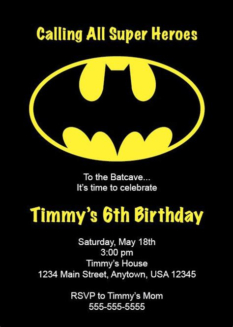 batman invitation template batman invitations theruntime