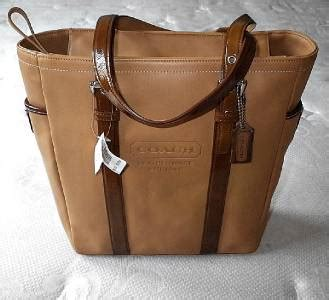 Rur20225 Tas Fashion Import Tote Lv Brown nwt coach supple caramel leather patent trim lunch gallery tote bag purse wow ebay