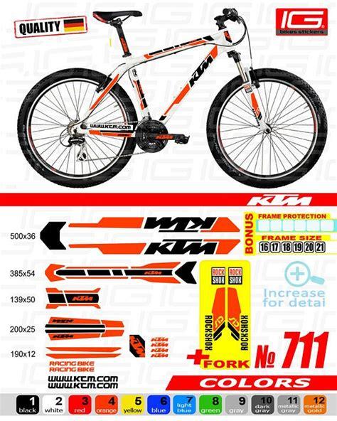 Ktm Aufkleber Fahrrad by Ktm Sticker Bike Frame Autocollant Ktm Bicycle Mountain