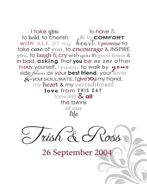 Wedding Vows Uk by Personalised Word Framed Print Wedding Vows