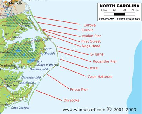 carolina usa map carolina surfing in carolina united states