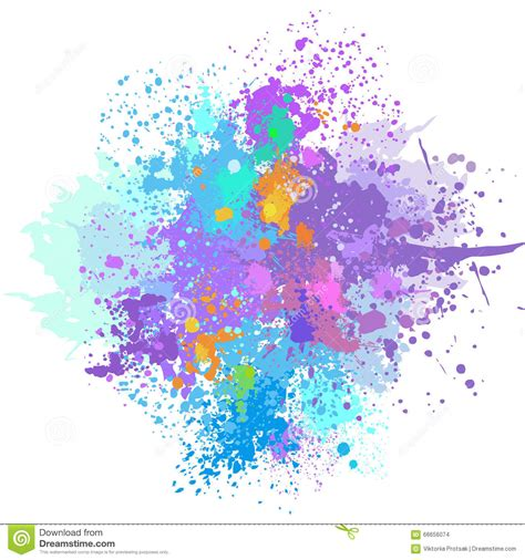 color background of paint splashes stock vector image 66656074