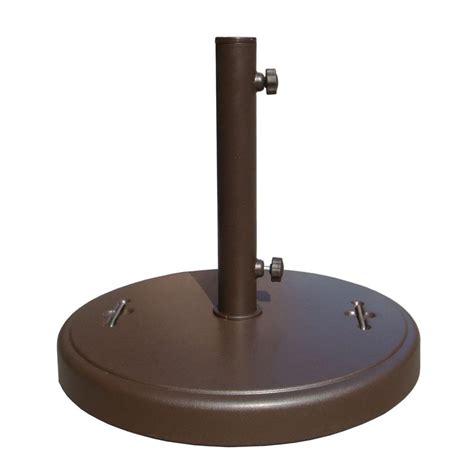 86 lbs. Brown Patio Umbrella Base with Hidden Wheels