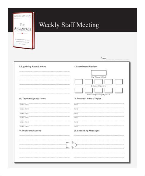 weekly meeting agenda template weekly meeting agenda template choice image template