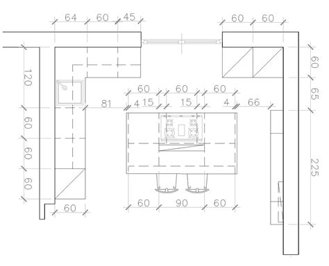 cucina isola misure cucina a vista sul soggiorno un progetto per sfruttare