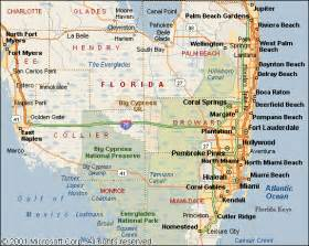 map of se florida fl wow limousine