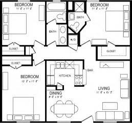 Three bedroom apartment plan house pinterest pool houses