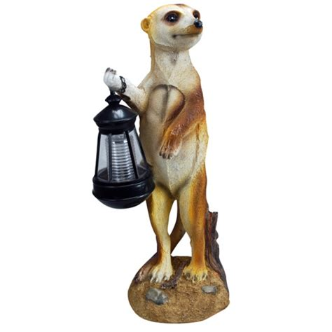 Solar Powered Meerkat With Lantern Light Solar Powered Meerkat Solar Lights