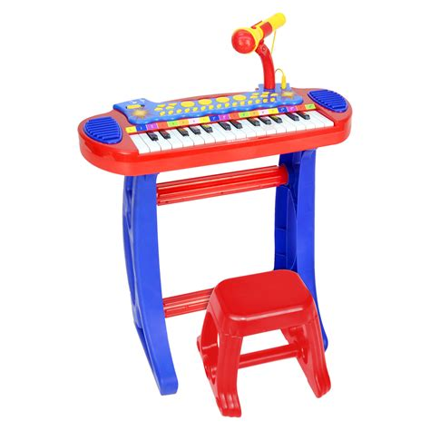 Toddler Keyboard With Microphone And Stool by Bontempi Electronic Keyboard With Microphone Legs Stool
