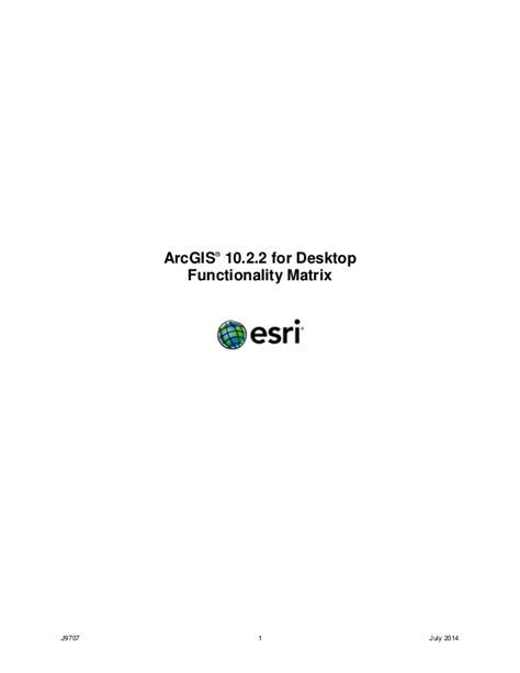 arcgis 10 for desktop functionality matrix esri arcgis 10 2 2 for desktop functionality matrix