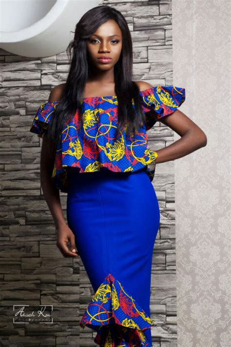 Simple Ankara Gown For Slim Ladies