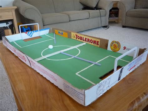 How To Make A Table Football Out Of Paper - crafty pizza box football