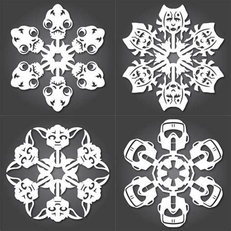cut   star wars paper snowflakes geekologie