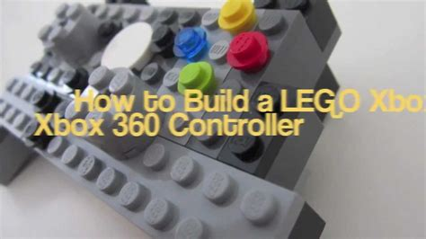 lego tutorial xbox how to build a lego xbox 360 controller youtube