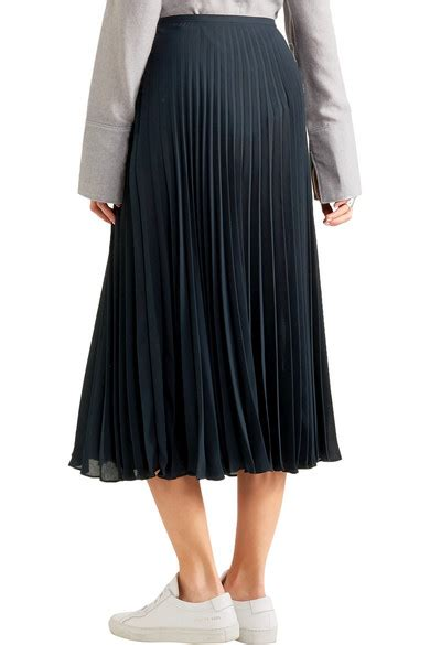 Chiffon Midi Skirt vince pleated chiffon midi skirt net a porter