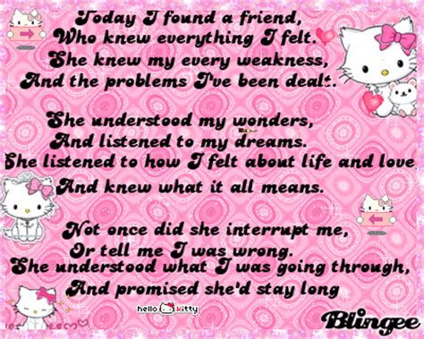 Pome Hellokitty Pink Pome Hellokitty Pome Hello Hello Kitt hello bestfriend blingee for my special best friend agy08 picture 90769321 blingee