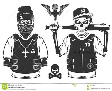 imagenes de calaveras hip hop set of rap skull and hip hop skeleton black and white