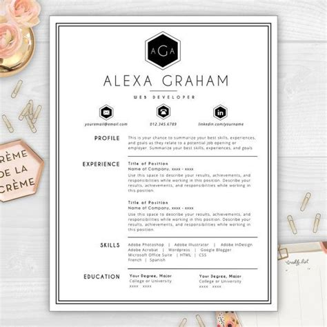standout resume template cover letter job application resume pinterest