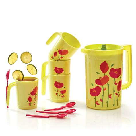 flower drink set tupperware tupperware indonesia promo