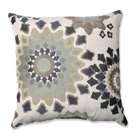 Where To Get Throw Pillows by Marais Garden Blue 18 Inch Square Throw Pillow Pillow Accent Pillows
