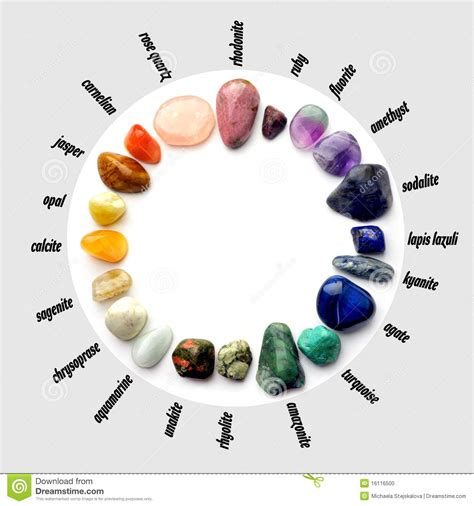 gems color spectrum with names stock photo image 16116500
