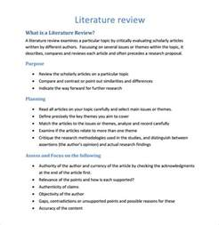 literature review outline template exle of literature review essay
