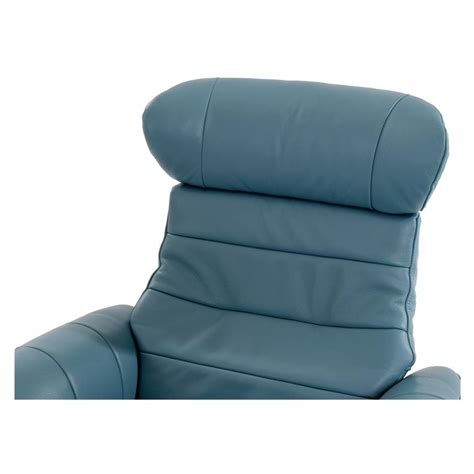Enzo Leather Recliner Chair by Enzo Blue Leather Swivel Chair El Dorado Furniture