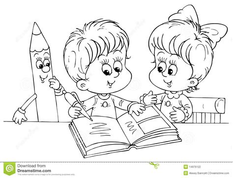 black and white picture books for babies children reading a book stock illustration illustration
