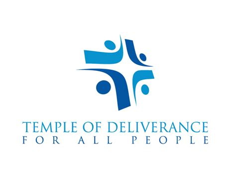 temple of deliverance professional serious logo design for temple of