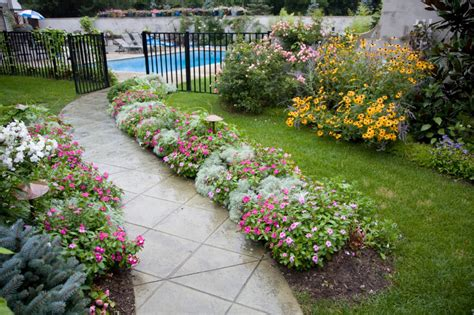 image gallery walkway flowers