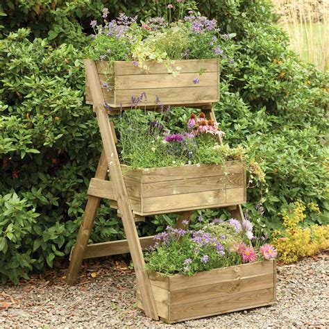 forest garden cascade planter 3 tiered fsc pressure treated timber